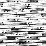 Hand drawn grunge simple lines. Seamless pattern. Vector Stock Photo