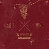 Hand drawn grunge wine background Stock Photography
