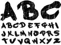 Hand Drawn Grungy Font Royalty Free Stock Photo