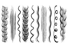 Hand drawn hair brush strokes Royalty Free Stock Image