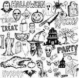 Hand drawn halloween elements Stock Photos