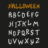 Hand Drawn Halloween Font Stock Photography