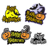 Hand drawn halloween lettering Stock Photo