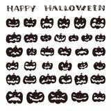 Hand drawn halloween pumpkin, jack o lantern Royalty Free Stock Images