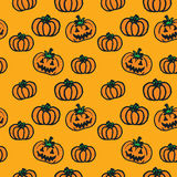 Hand-drawn Halloween pumpkins Royalty Free Stock Photo