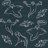 Hand drawn Halloween seamless pattern Stock Photography