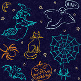 Hand drawn Halloween seamless pattern Royalty Free Stock Image