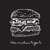 hand drawn hamburger Royalty Free Stock Photography