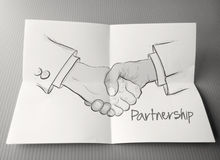 Hand drawn handshake sign Royalty Free Stock Photo