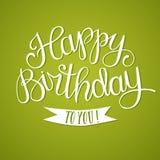Hand drawn Happy Birthday title Stock Image