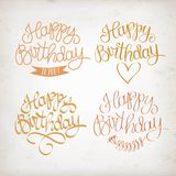 Hand drawn Happy Birthday title Stock Photo