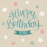 Hand drawn Happy Birthday title Stock Images