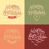 Hand drawn Happy Birthday title Stock Photography