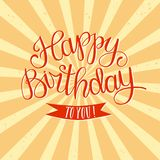 Hand drawn Happy Birthday title Royalty Free Stock Image