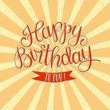 Hand drawn Happy Birthday title Royalty Free Stock Image