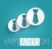 Hand Drawn Happy Fathers Day Stock Photo
