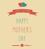 Hand Drawn Happy Mother's Day poster Stock Photos