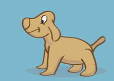 Hand Drawn Happy Puppy Side View Royalty Free Stock Images