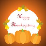 Hand drawn Happy Thanksgiving poster Stock Images