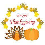 Hand drawn Happy Thanksgiving poster Royalty Free Stock Photo