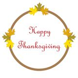 Hand drawn Happy Thanksgiving poster Stock Image