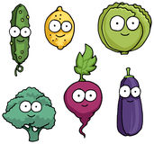 Hand drawn happy vegetable characters Stock Photography