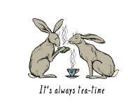 Hand drawn hares Stock Photos