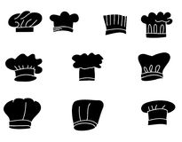 Hand drawn Hat chef isolate vector set Stock Photography