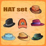 Hand drawn hats Stock Photos