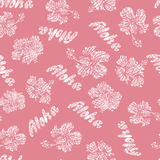 Hand drawn Hawaiian seamless pattern Stock Photo
