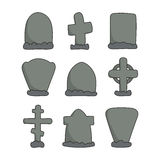 Hand drawn headstones Royalty Free Stock Image