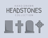 Hand drawn headstones Royalty Free Stock Photo