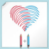 Hand Drawn Heart Royalty Free Stock Photo