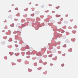 Hand drawn heart background Stock Photography