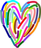 Hand drawn heart Royalty Free Stock Photography