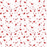 Hand drawn heart seamless pattern stock illustration