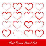 Hand drawn heart set Royalty Free Stock Photo