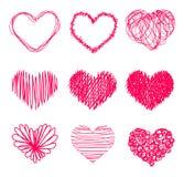 Hand drawn heart shape Stock Photo