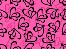 Hand drawn heart shape with background Royalty Free Stock Images
