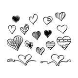 Hand drawn heart shapes
