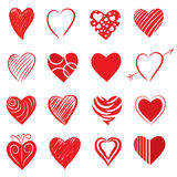 Hand Drawn Heart Shapes Stock Photos