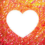 Hand drawn Heart symbol. Vector calligraphy Red symbol Stock Photography