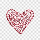 Hand drawn heart on transparent background Stock Photos