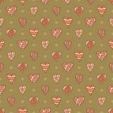 Hand-drawn hearts Royalty Free Stock Photos