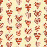 Hand-drawn hearts Stock Image