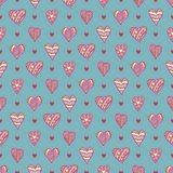 Hand-drawn hearts Royalty Free Stock Image