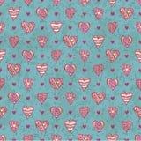 Hand-drawn hearts Royalty Free Stock Image
