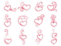 Hand drawn hearts 3 Royalty Free Stock Photos