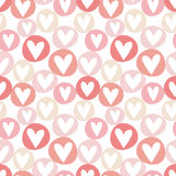 Hand Drawn Hearts Seamless Pattern Stock Photography