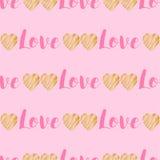 Hand drawn hearts seamless pattern. Stock Image